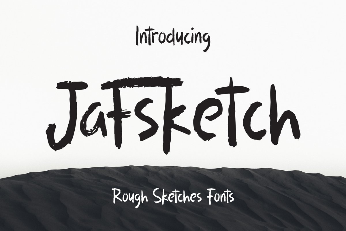 Jafsketch - Rough Sketches Font example image 1
