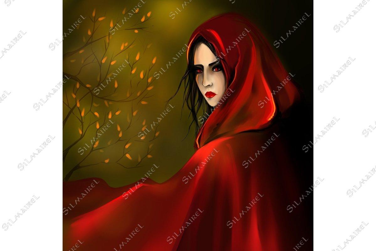 Little Red Riding Hood girl digital art example image 1