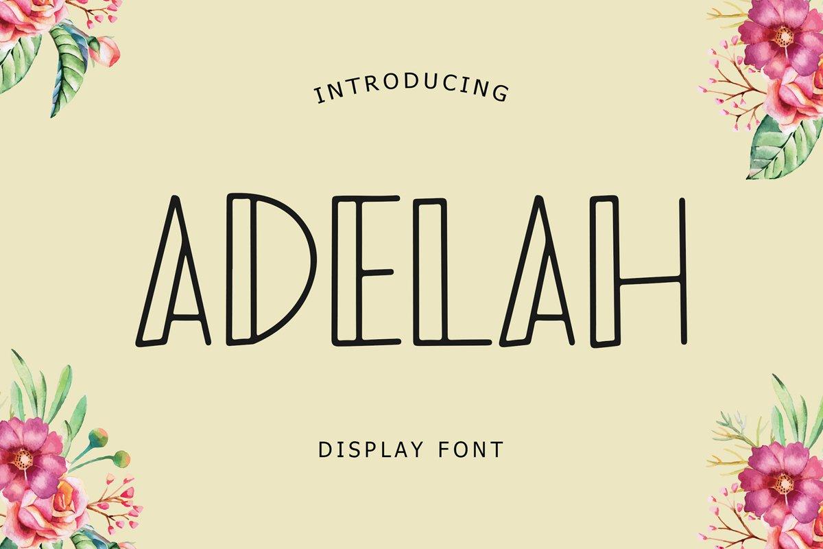Adelah Display Font example image 1