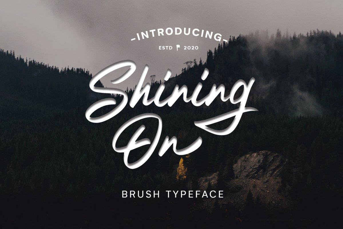 Shining On Logo Type example image 1