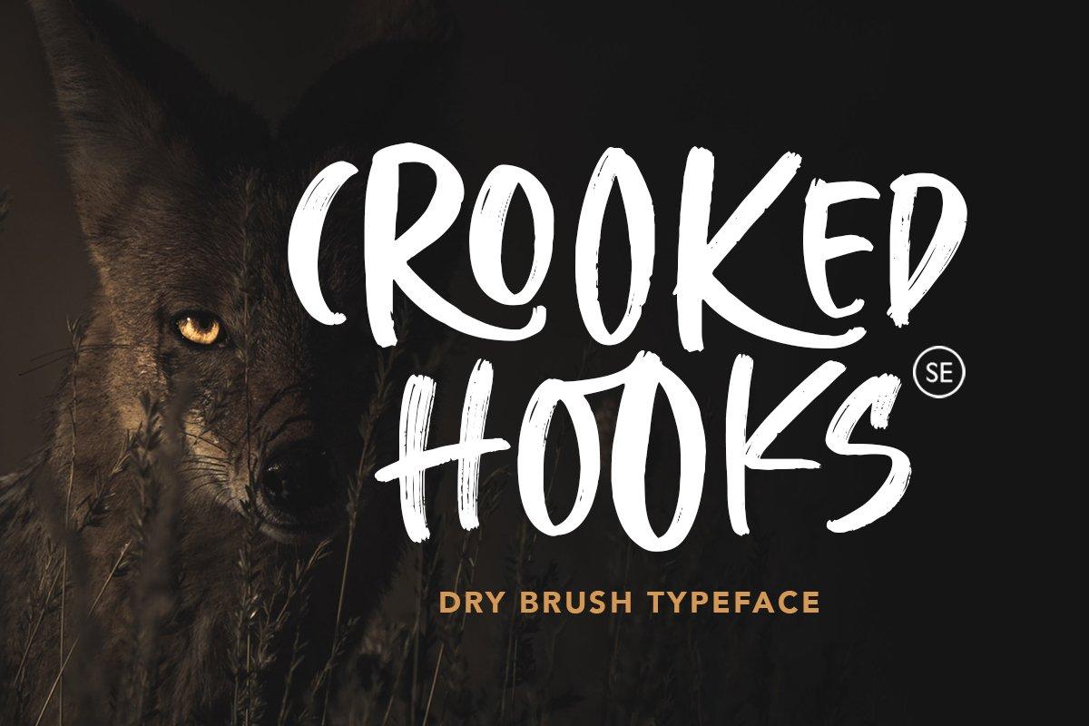 Crooked Hooks - Dry Brush Font example image 1
