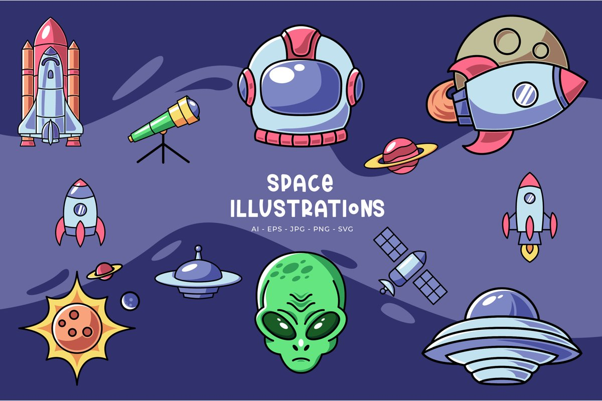 Space Illustrations example image 1