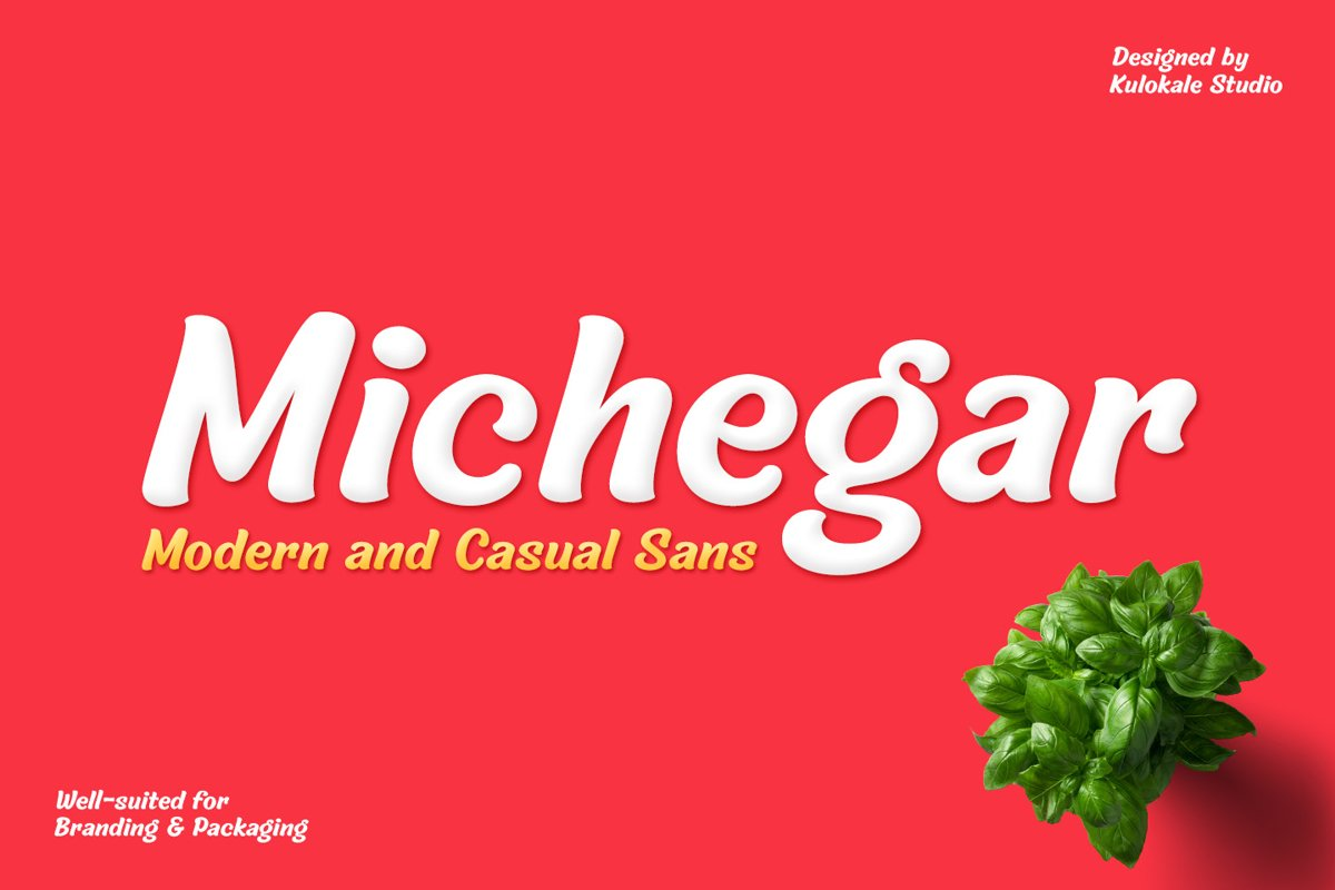 Michegar - Modern and Casual Sans example image 1