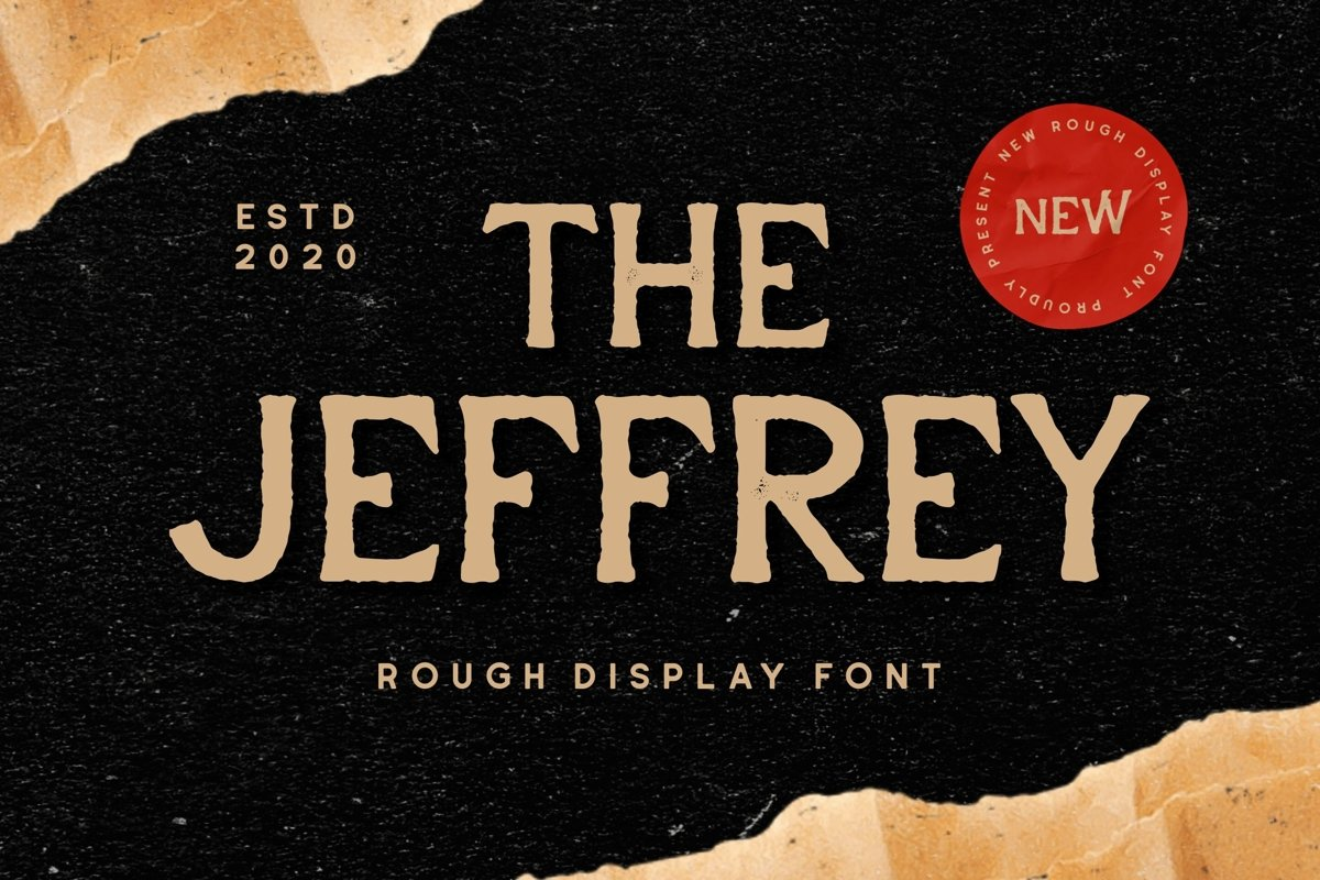 Jeffrey - Display Font example image 1