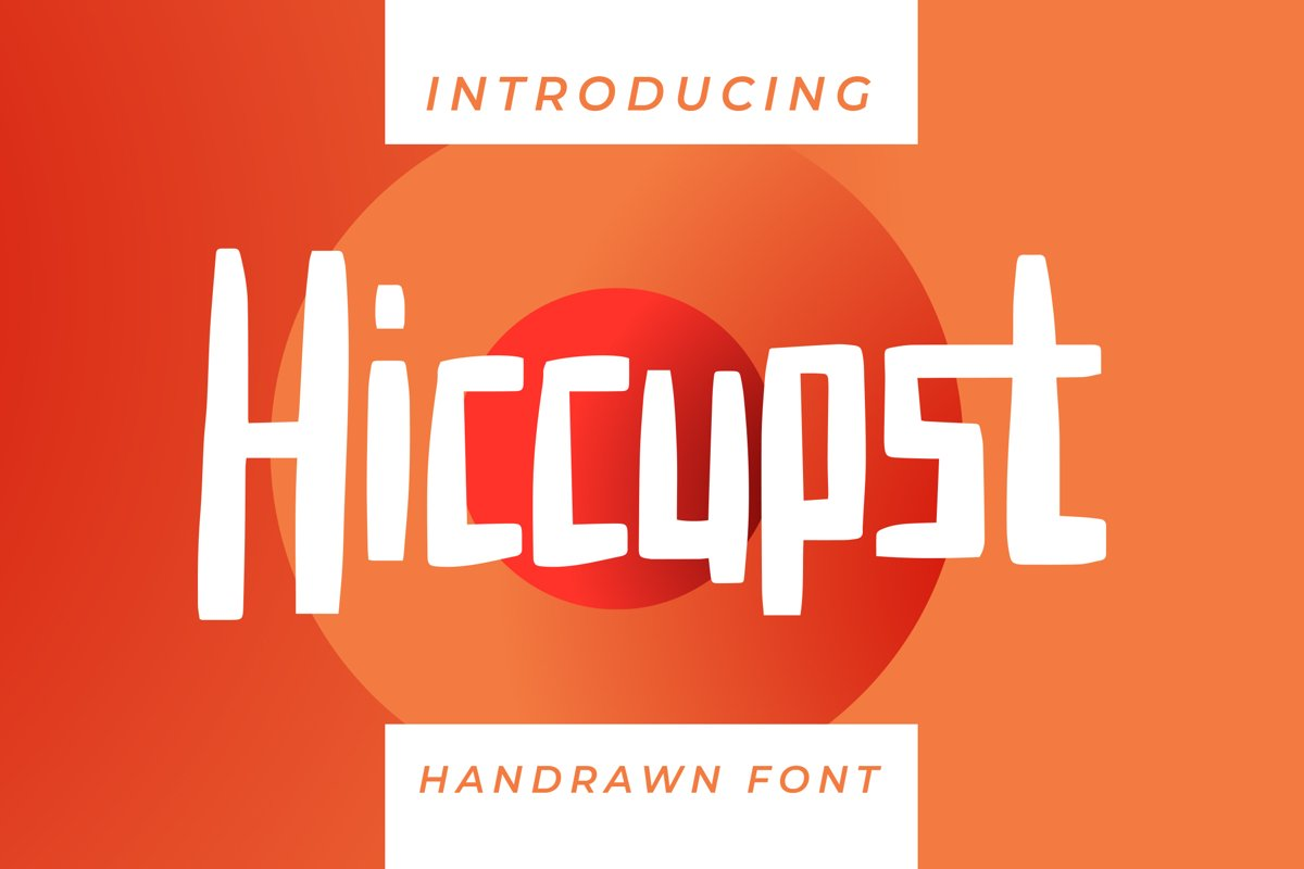 Hiccupst - Display Font example image 1