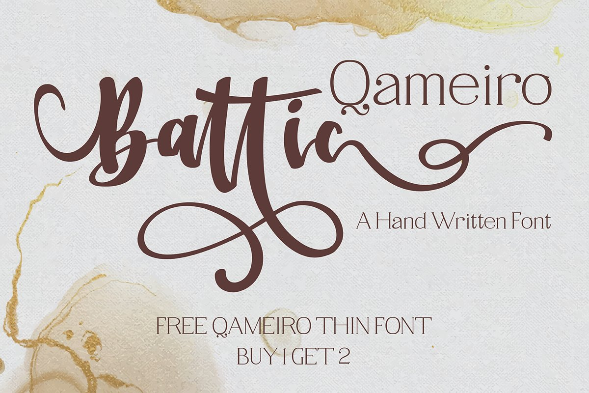 Battic Hand Written Font example image 1