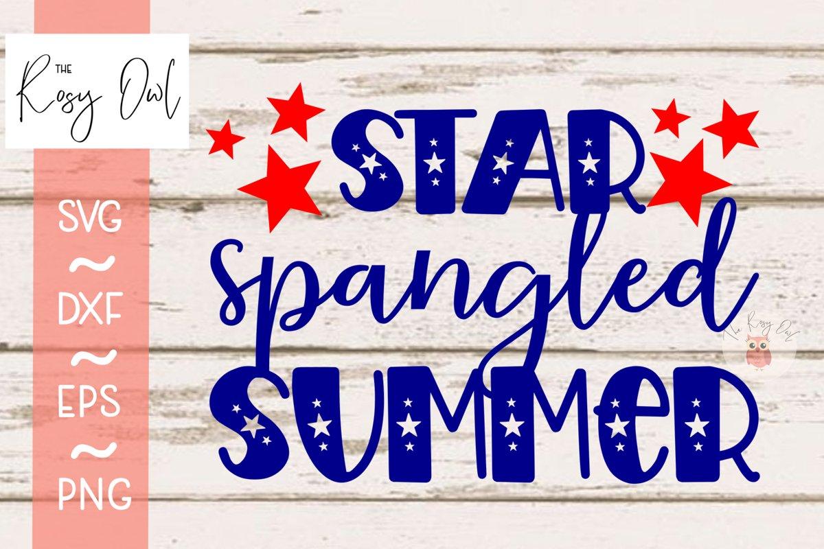 Star Spangled Summer Digital Cut File example image 1