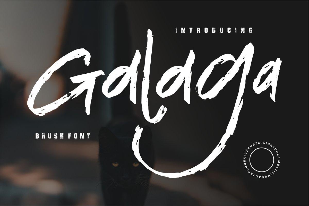Galaga - Brush Font example image 1