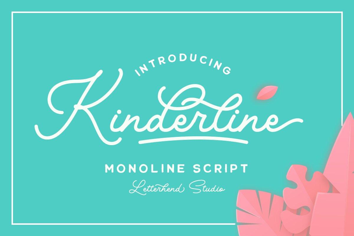 Kinderline - Joy & Playful Script example image 1