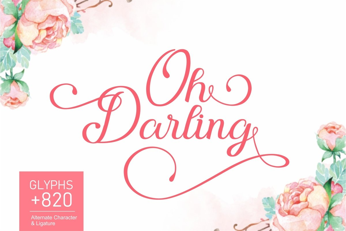 Oh Darling | Lovely Calligraphy Font example image 1