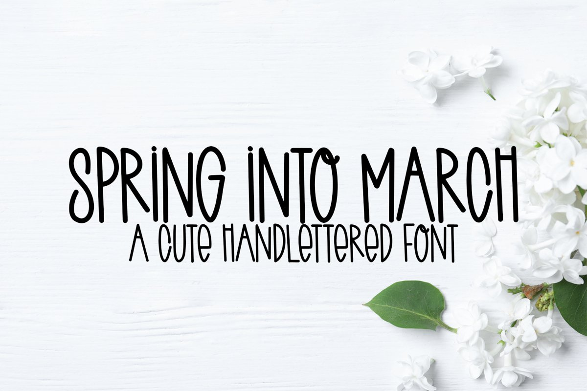 Spring Into March - A Quirky Handlettered Font example image 1