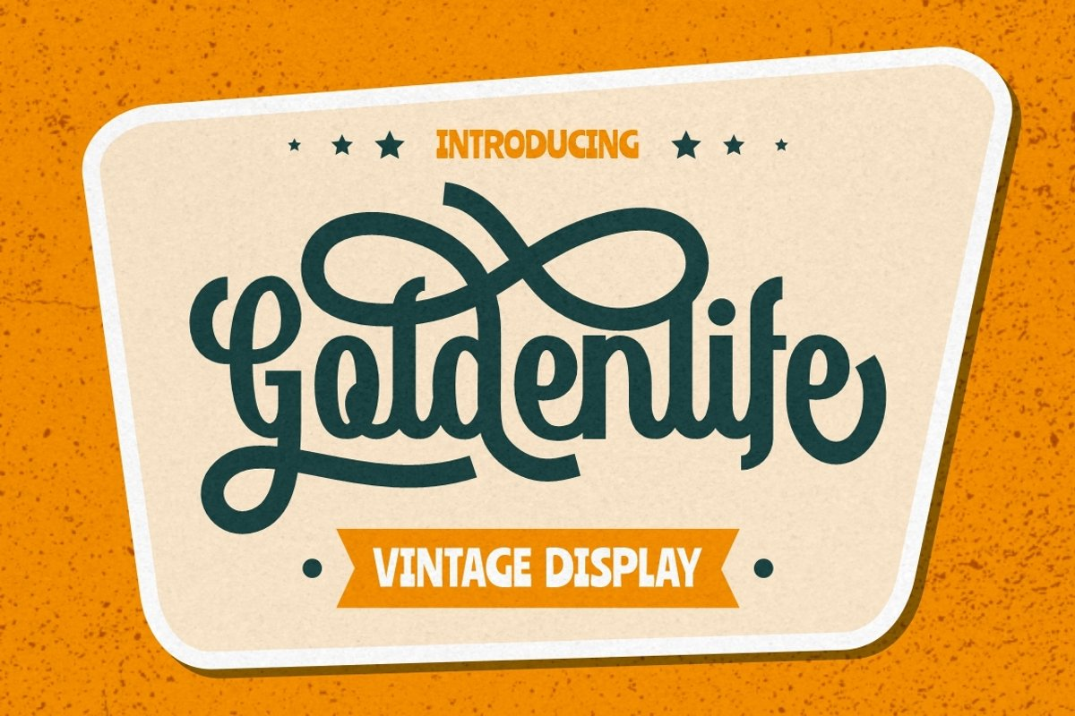Goldenlife - Vintage Display example image 1