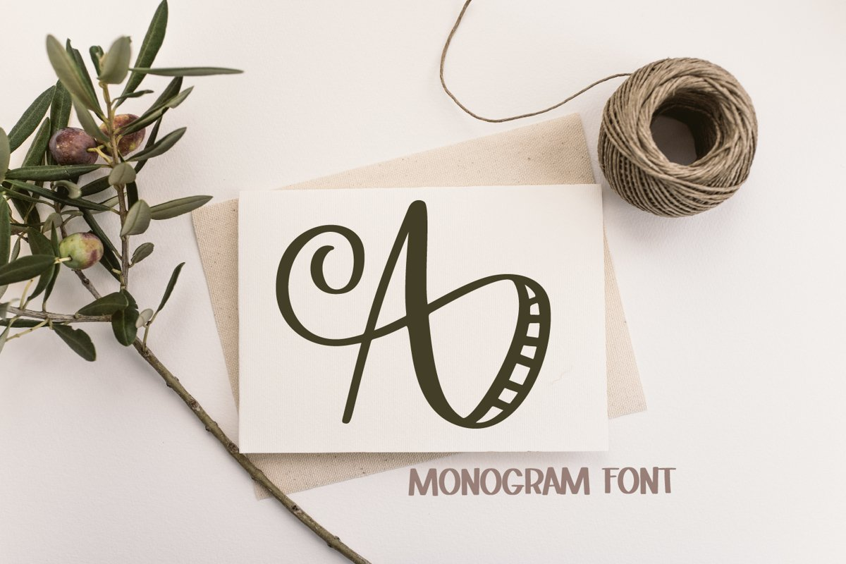 Monogram Striped Font - A Lovely Monogram Font example image 1