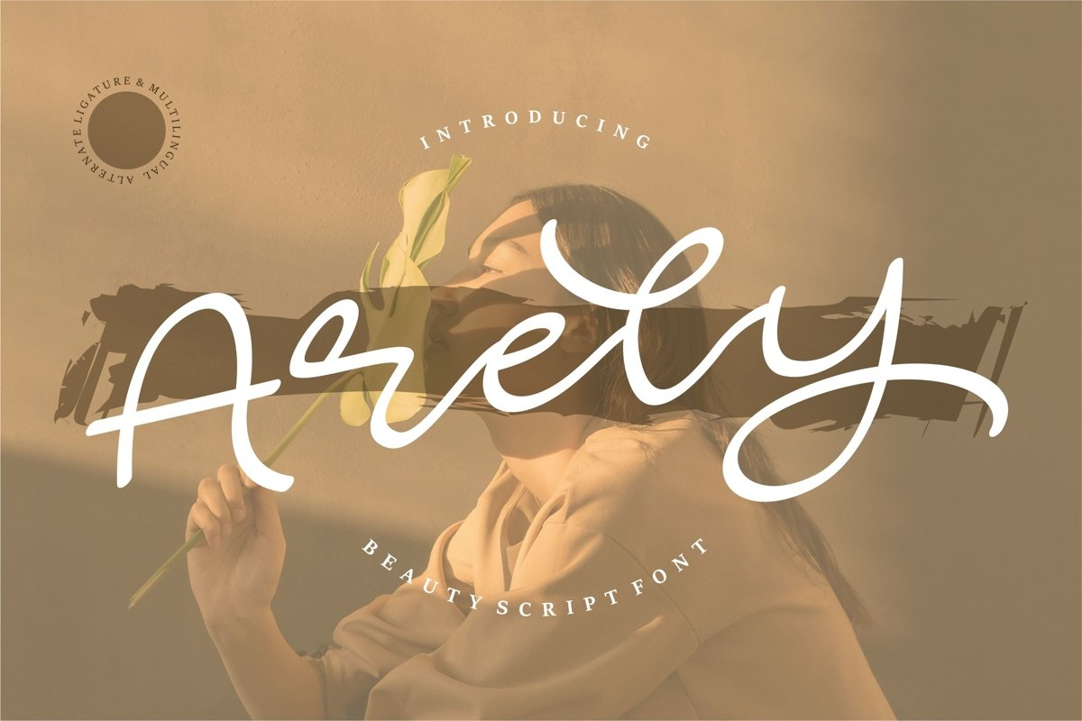 Arely - Beauty Script Font example image 1