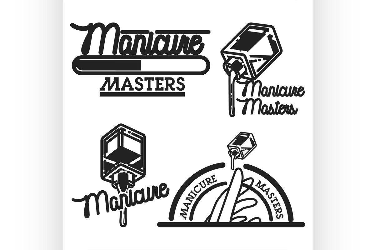 Vintage manicure emblems example image 1