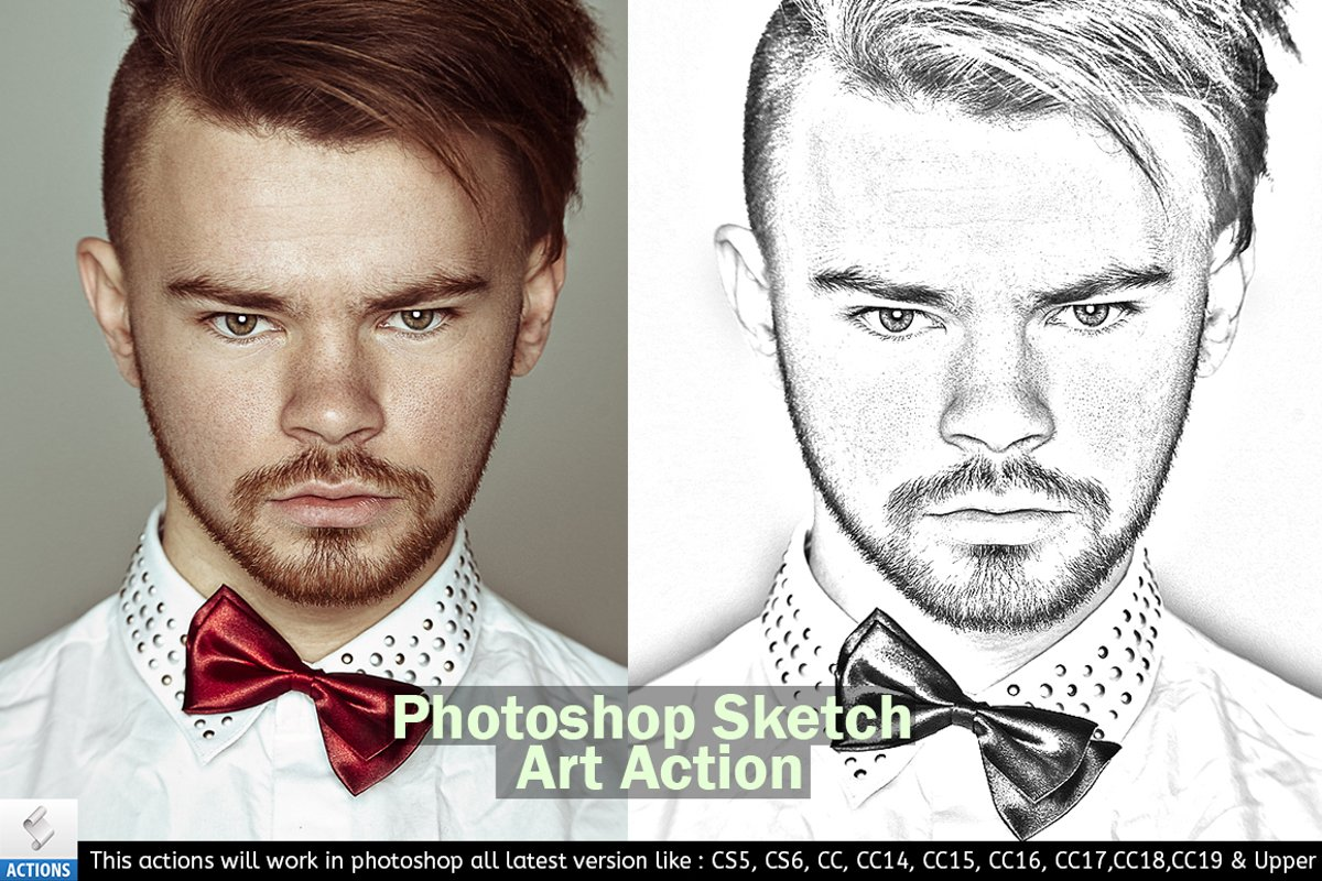 Photoshop Sketch Art Action example image 1