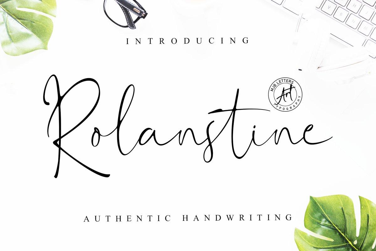 Rolanstine Authentic Signature example image 1