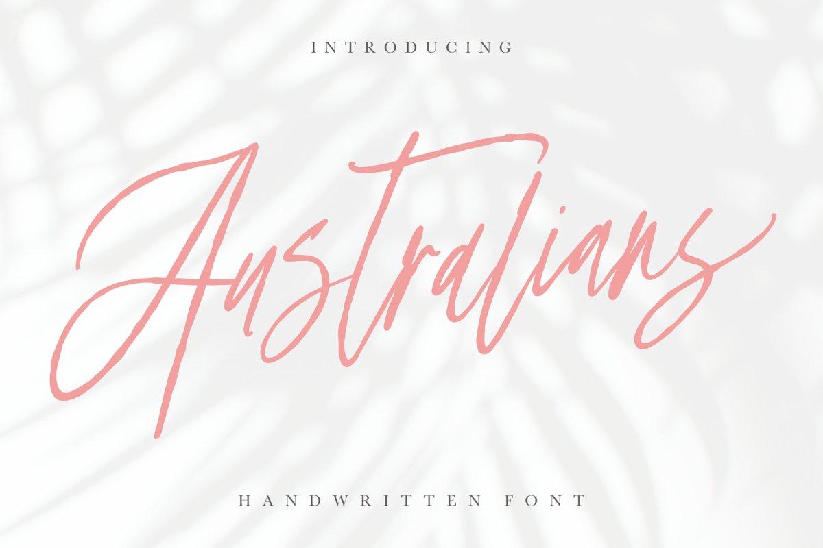 Australians - Handwritten Font example image 1