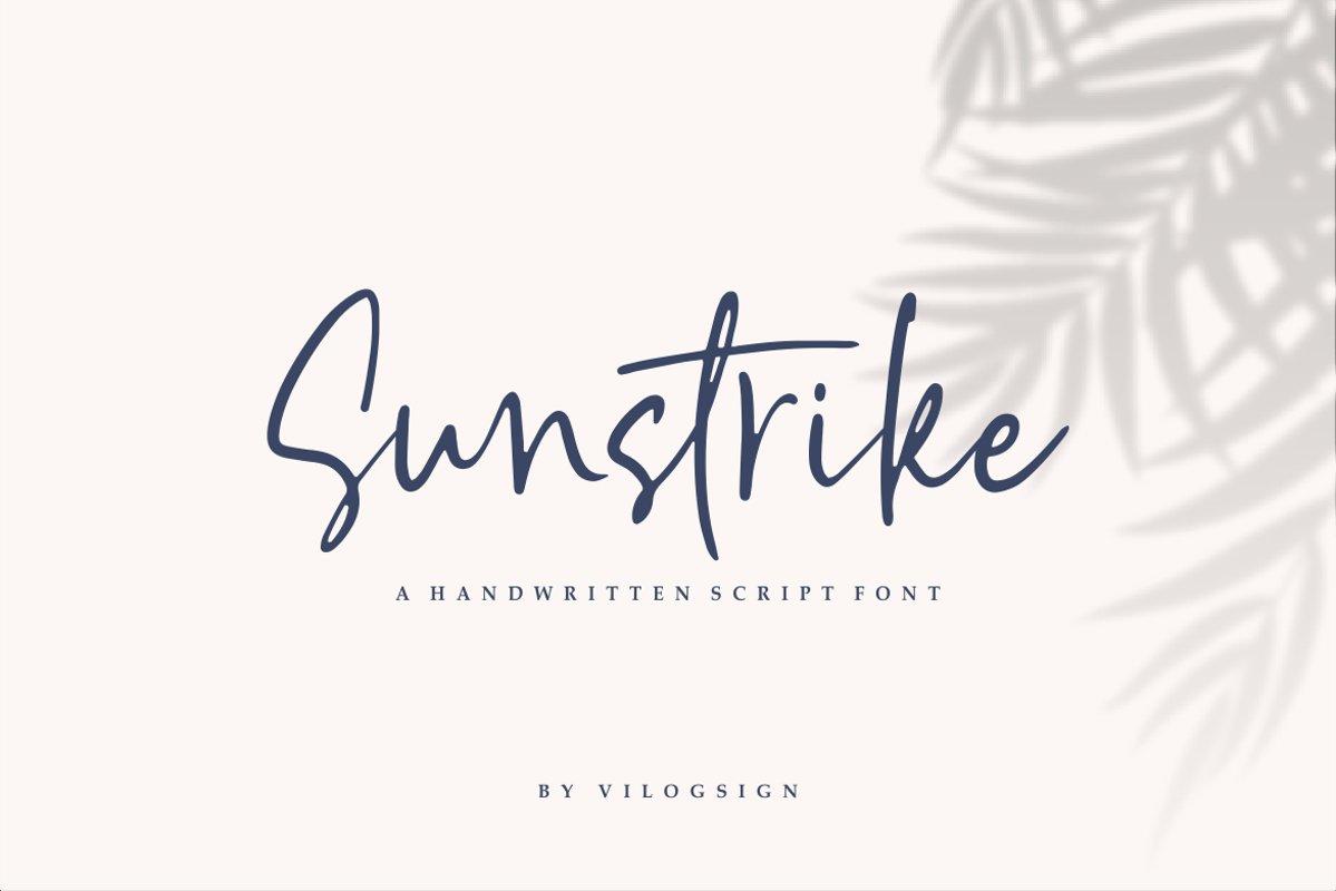 Sunstrike a Handwritten Script Font example image 1