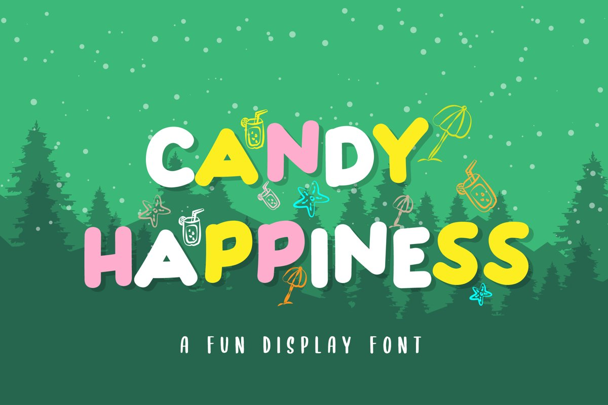 Candy Happiness Display Font example image 1