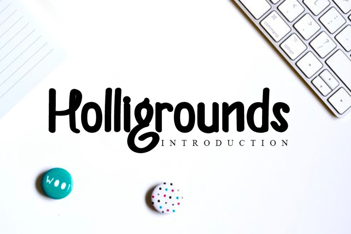 Helligrounds - Handwritting Font example image 1