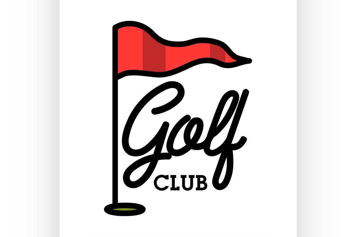 Color vintage golf club emblem example image 1