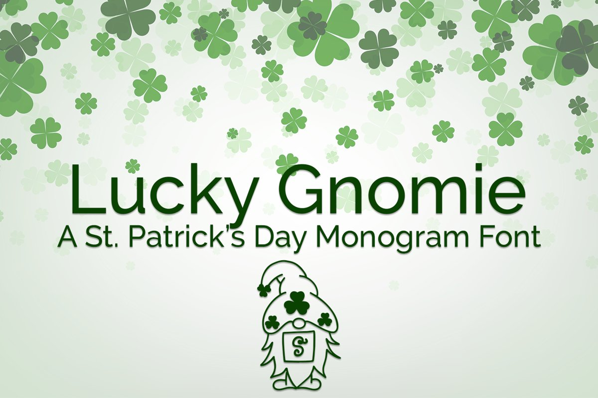 Lucky Gnomie - A St. Patrick's Day Monogram Font example image 1