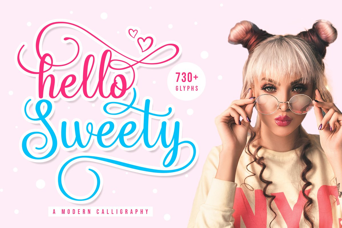 Hello Sweety // Script Font example image 1