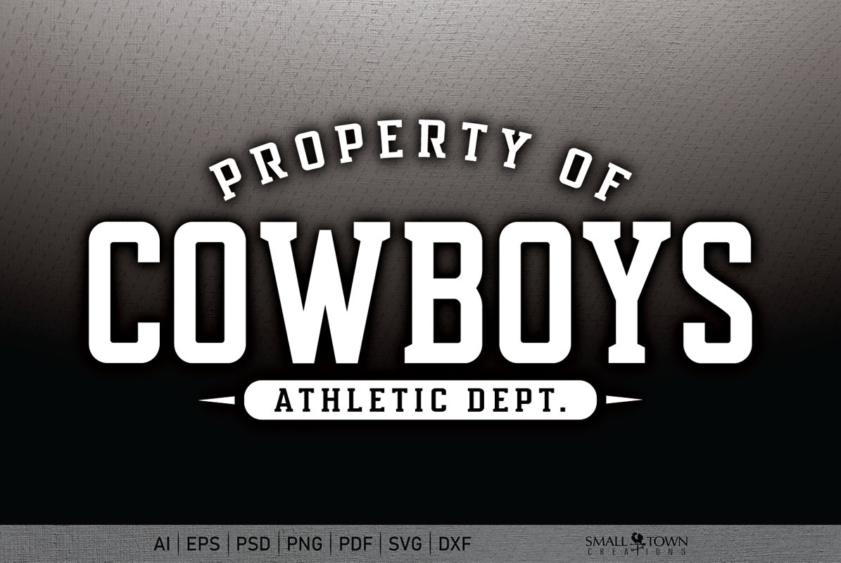 Cowboy, Cowboy Athletics, Cowboy svg, PRINT, CUT, DESIGN example image 1