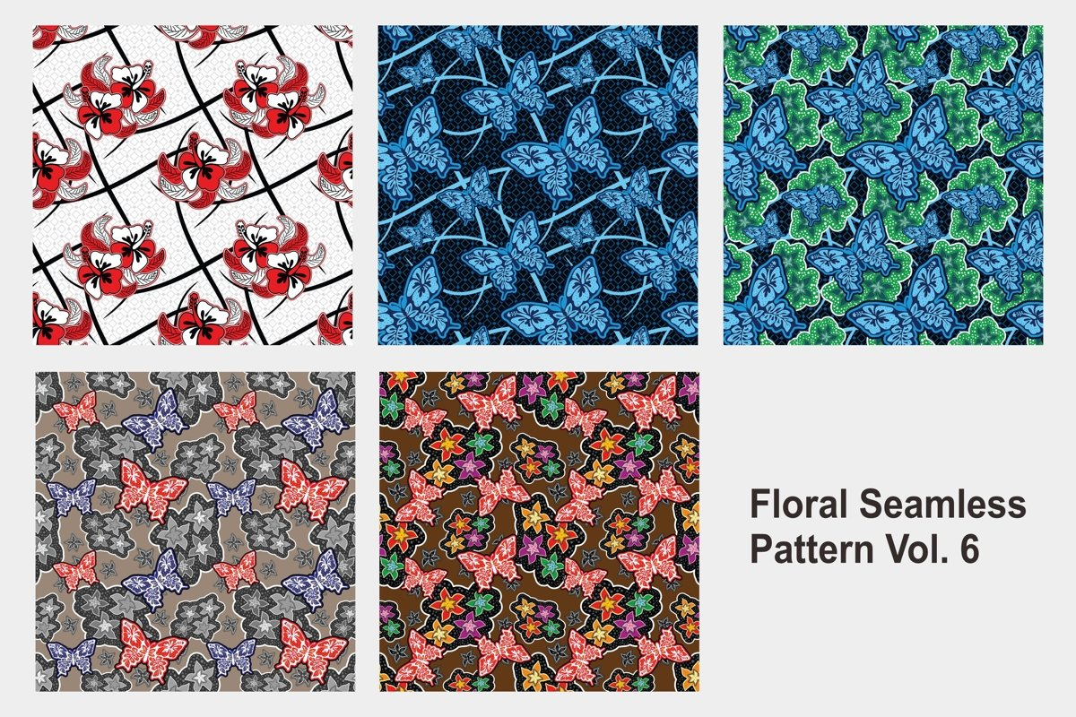 Floral Seamless Pattern Vol. 6 example image 1