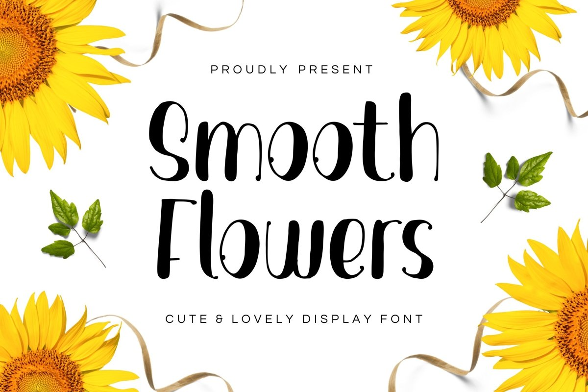 Smooth Flowers Font example image 1