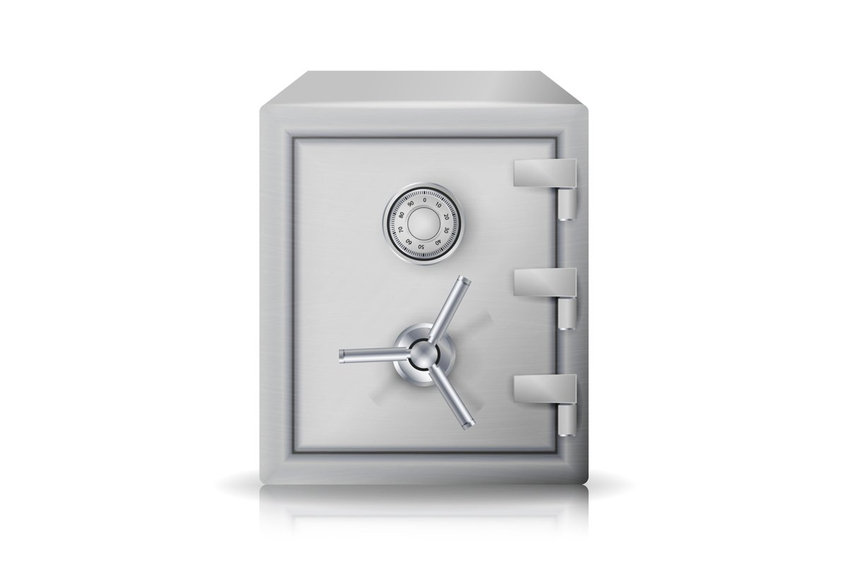 Metal Safe Realistic Vector. example image 1