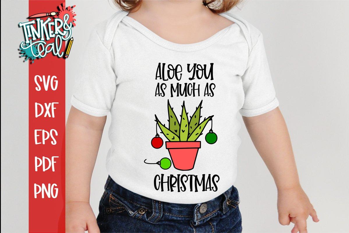Aloe You Funny Cactus Christmas SVG example image 1