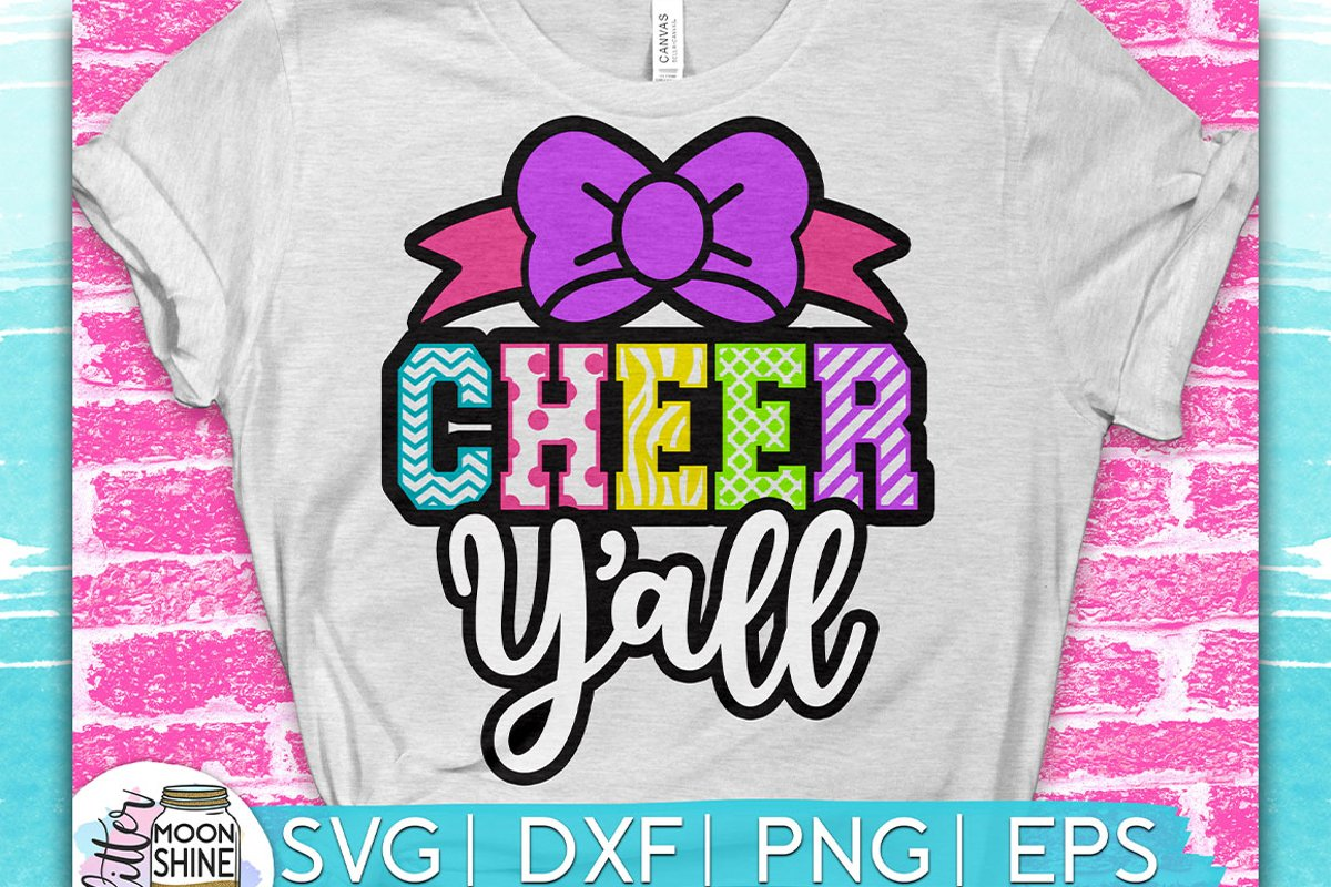 Cheer Y'all SVG DXF PNG EPS Cutting Files example image 1