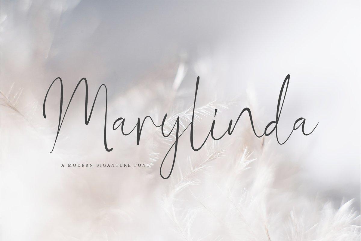 Marylinda Beauty and Modern Signature Font example image 1