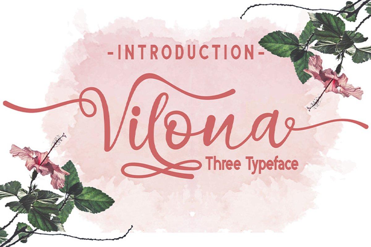 Vilona |Three Typeface example image 1