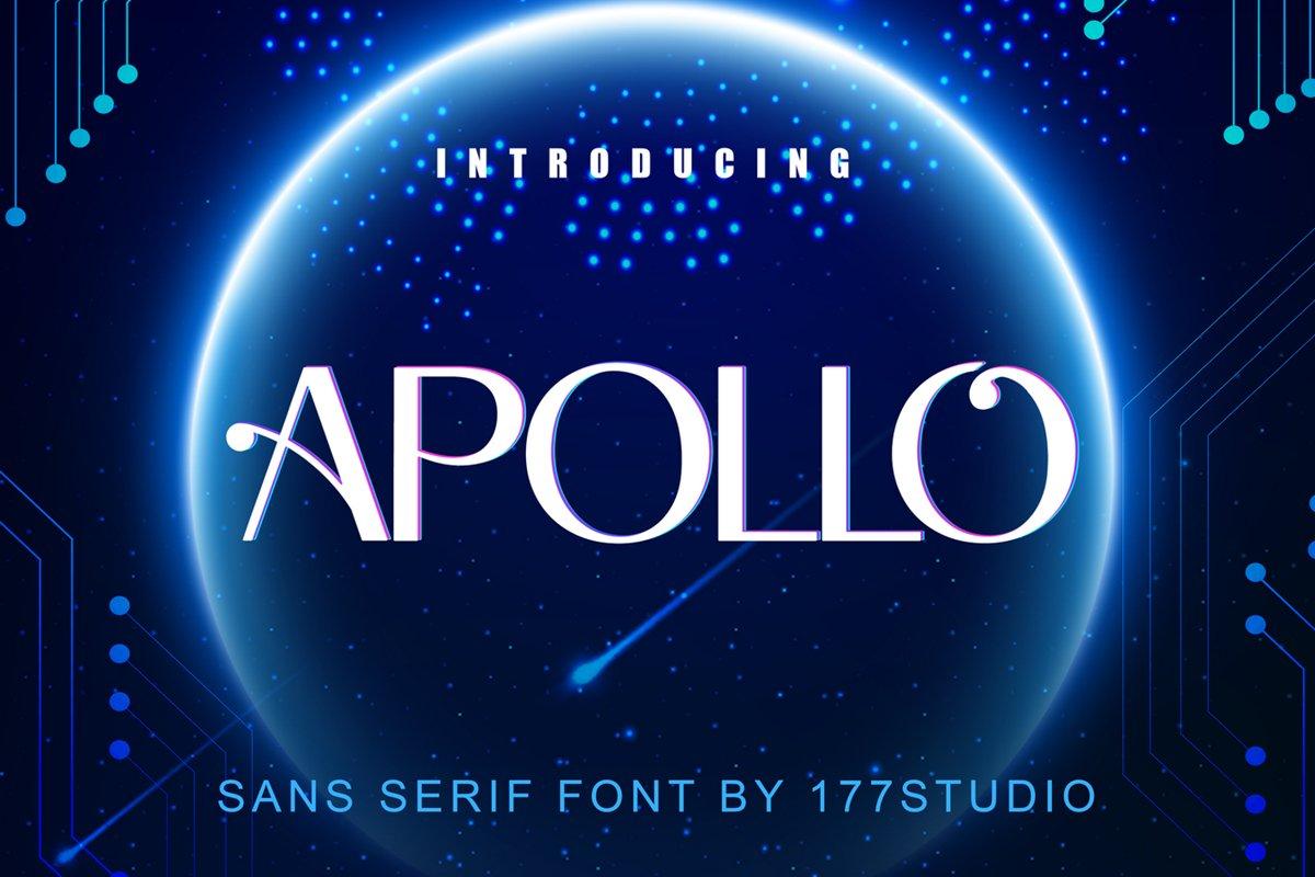 Apollo Sans Serif Font example image 1