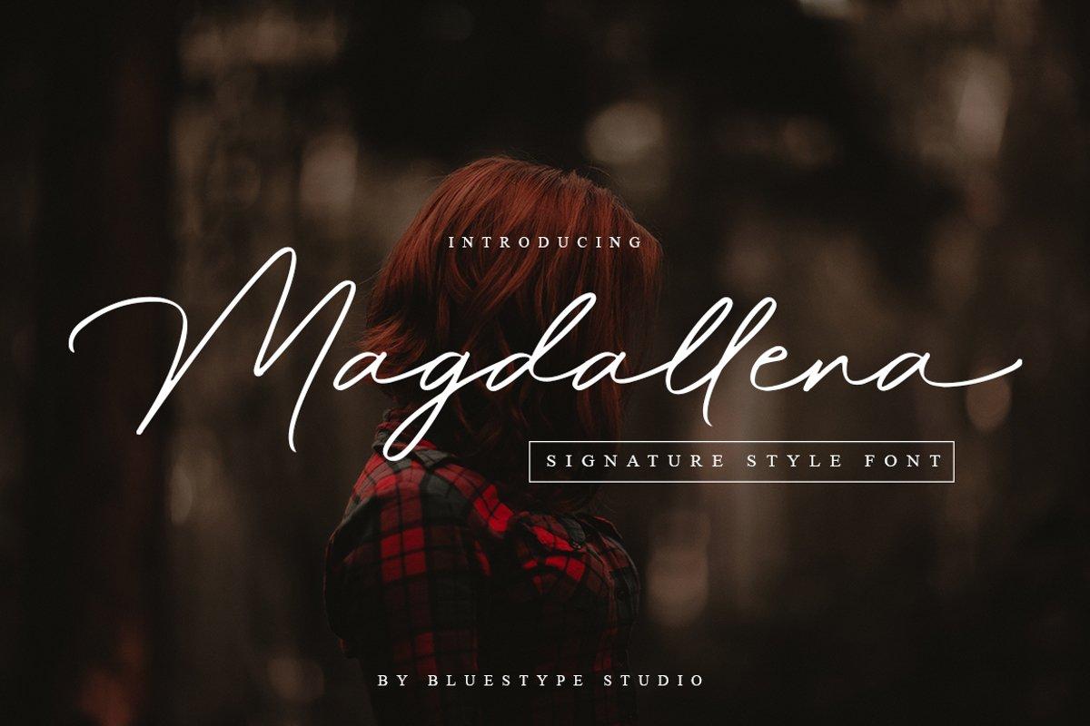 Magdallena - Signature Font example image 1