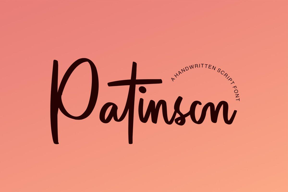 Patinson Script example image 1