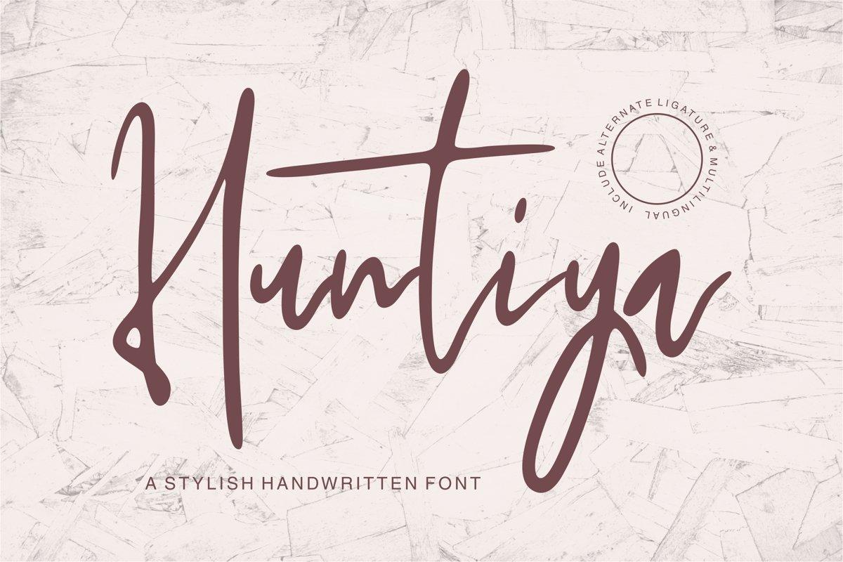 Huntiya - A Stylish Handwritten Font example image 1