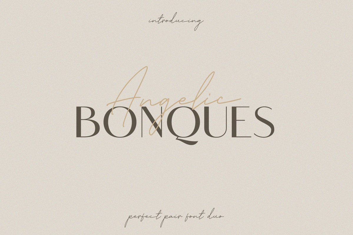 Angelic Bonques - Font Duo example image 1