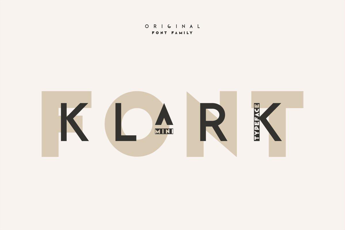 Klark. Sans serif font family. example image 1