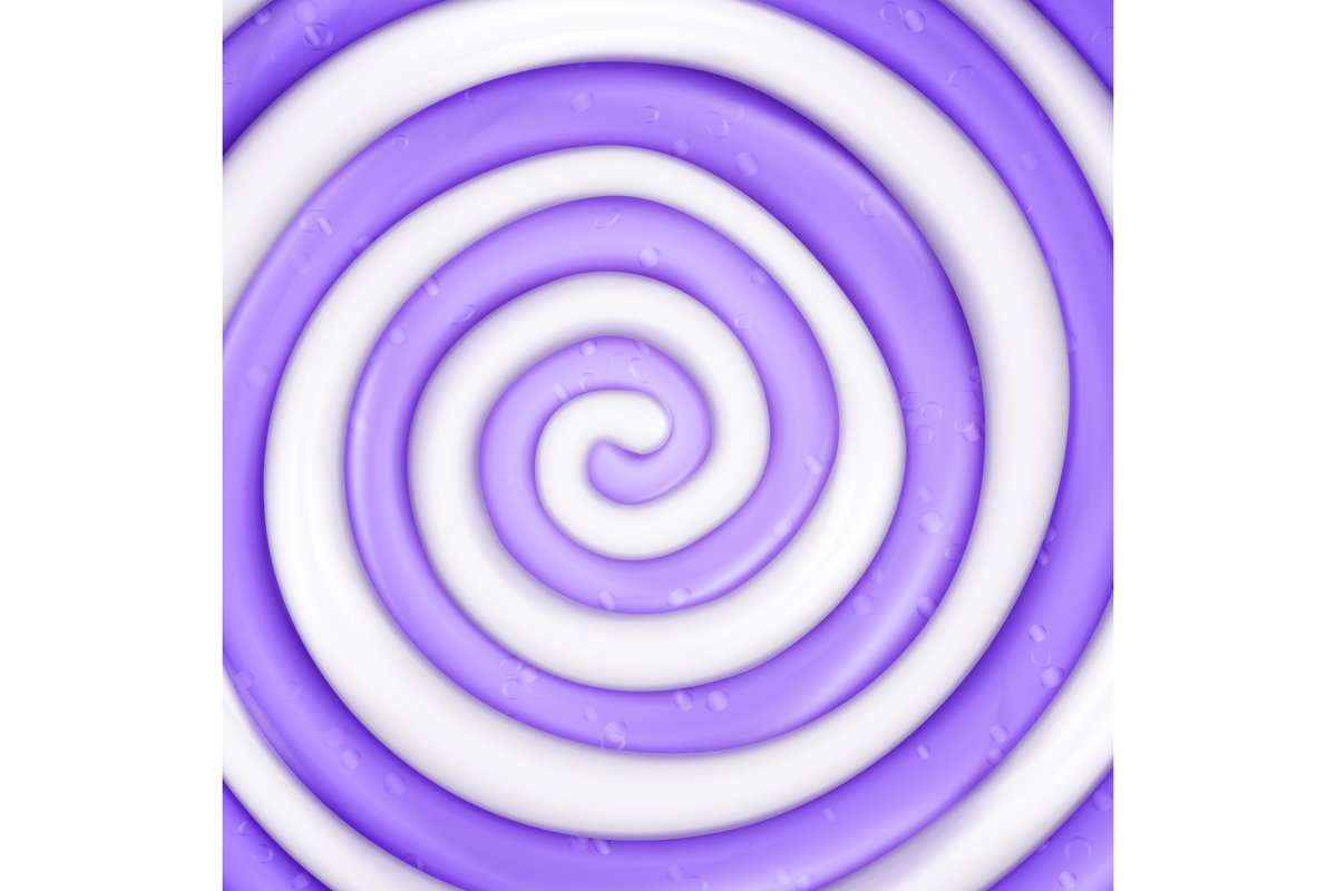Lollipop Vector Background. Realistic Candy Round Purple example image 1