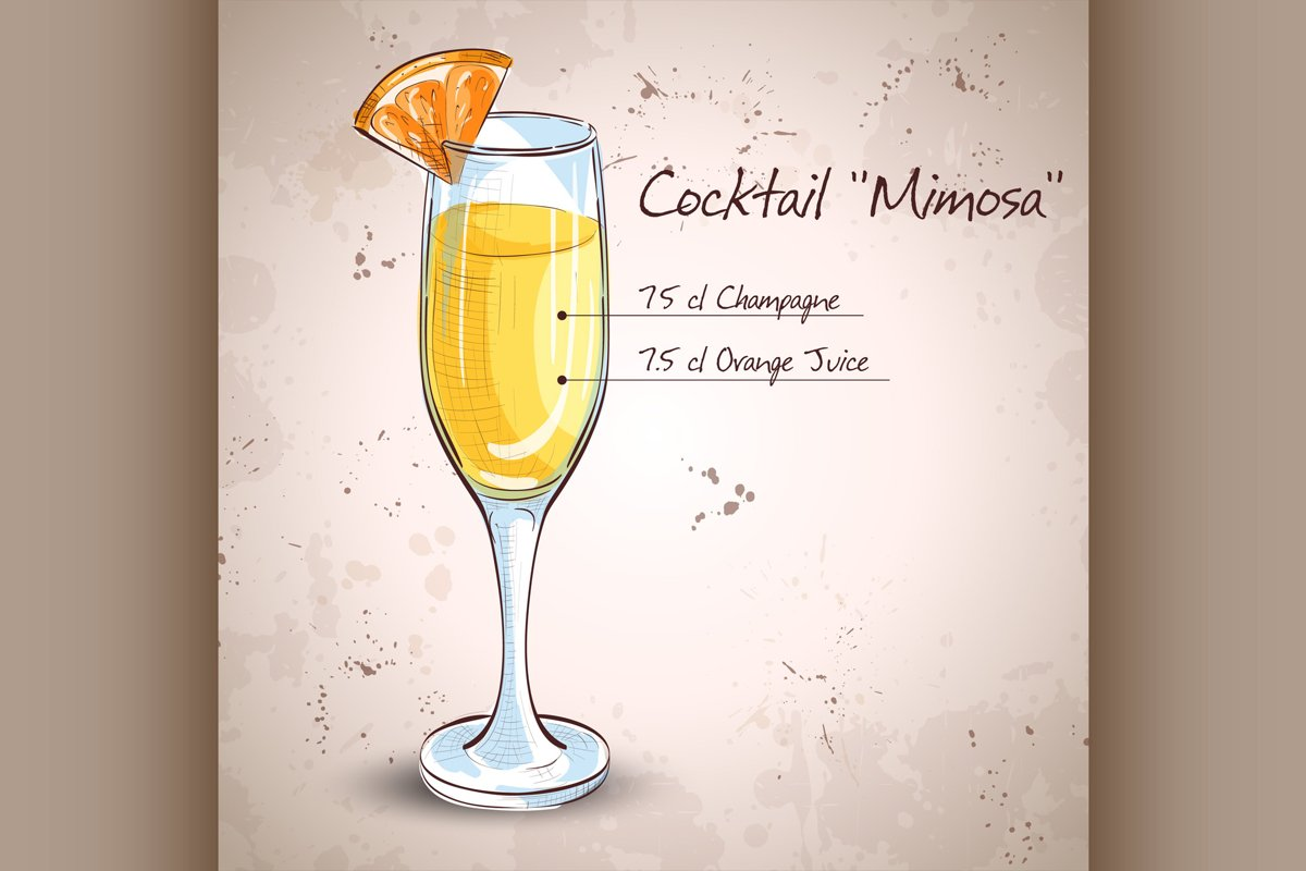 Cocktail alcohol Mimosa example image 1