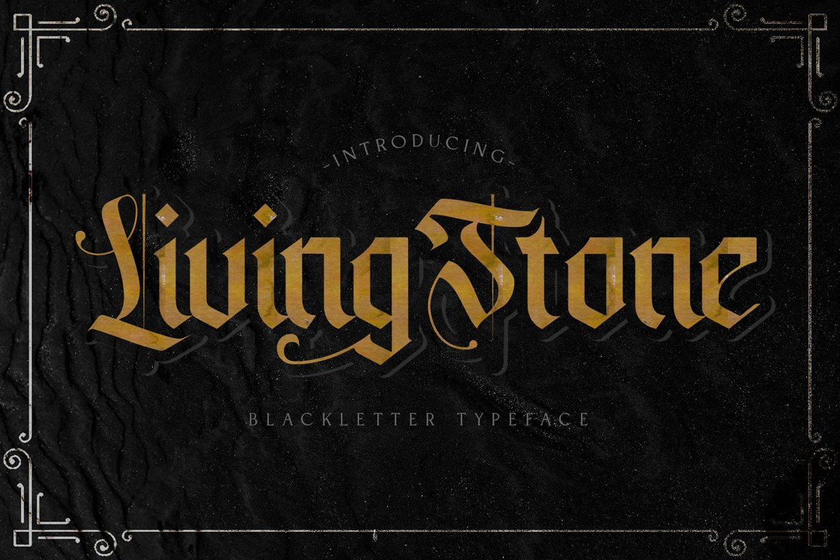 Livingstone - Blackletter Decorative Font example image 1