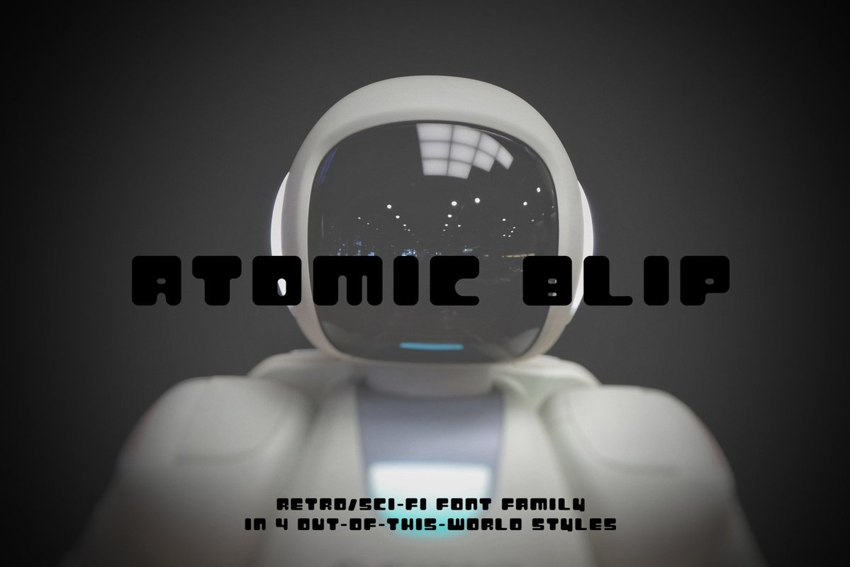 Atomic Blip | Font of the Future! example image 1