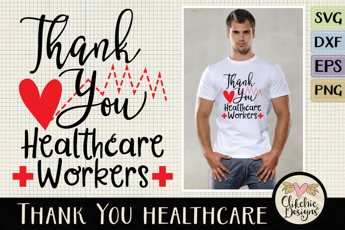 Thank You Healthcare Workers SVG - Healthcare Heroes example image 1