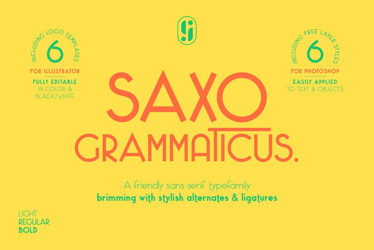 Saxo Grammaticus Sans Serif Font & Extras example image 1