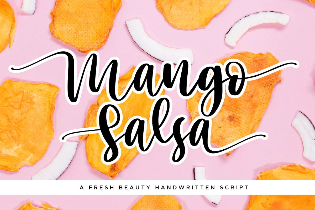 Mango Salsa with Bouncy Handwritten Script Font Style example image 1