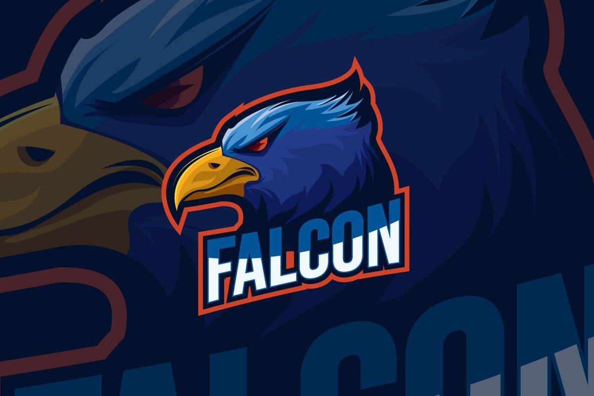 Falcon Eagle Esport Logo Design example image 1